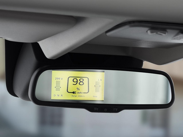 Nieuwe Peugeot e-Boxer : Specifieke display