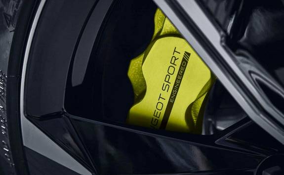 Nouvelle 508 PEUGEOT SPORT ENGINEERED : étriers de frein Kryptonite siglés