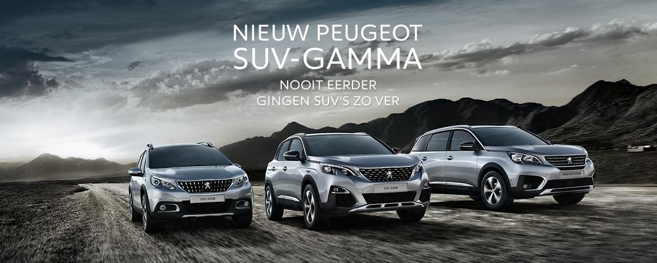 Gamma SUV Peugeot 2008, 3008, 5008