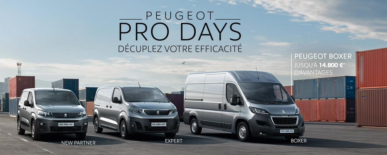 Gamme Utilitaires Peugeot