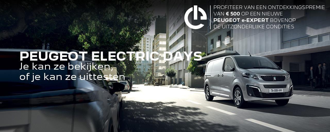 PEUGEOT ELECTRIC DAYS   NIEUWE e-EXPERT