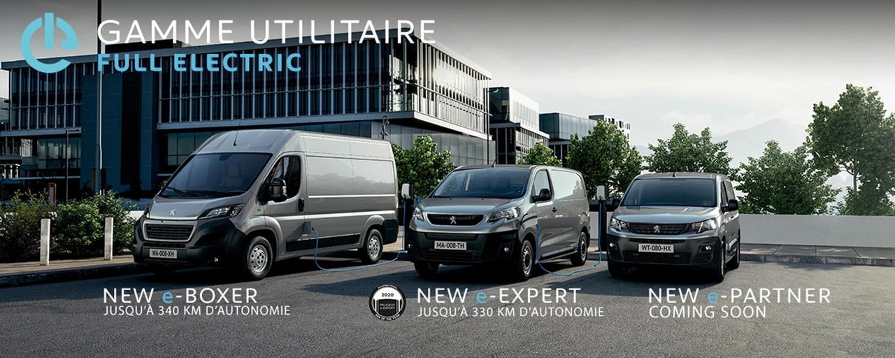PEUGEOT GAMME UTILITAIRE - FULL ELECTRIC