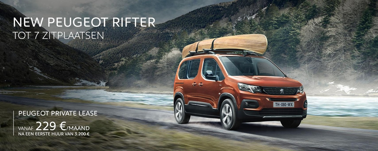 Peugeot Rifter Homepage