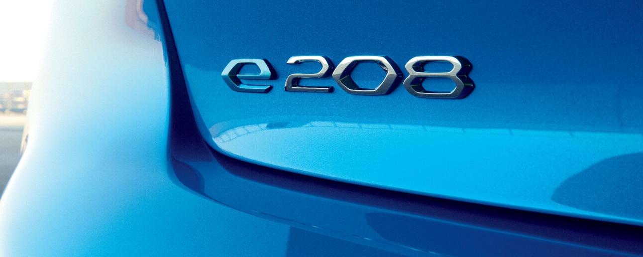Nouvelle PEUGEOT 208 – Logo e-208