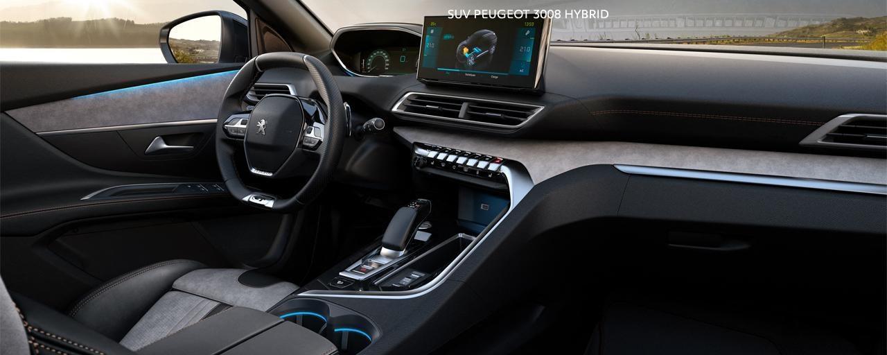 Nieuwe SUV Peugeot 3008 Hybrid – Robuust hybride-interieur
