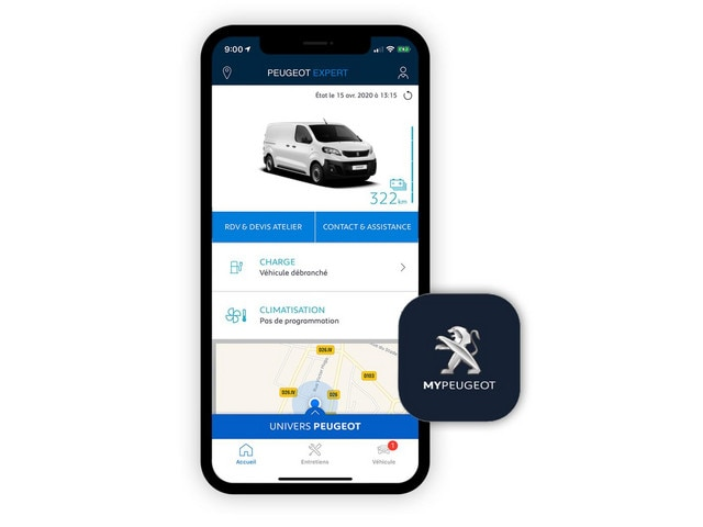 PEUGEOT e-Expert -  Application MyPeugeot
