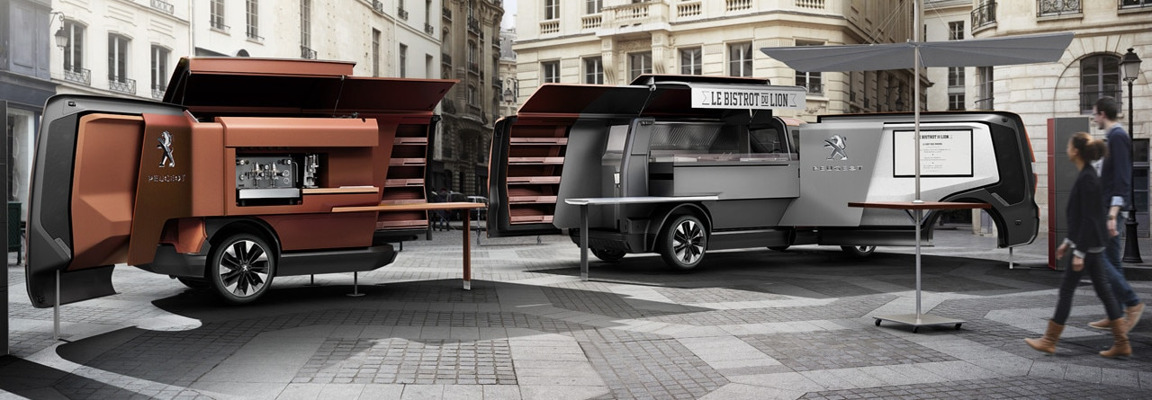 peugeot concept car d couvrez le foodtruck. Black Bedroom Furniture Sets. Home Design Ideas