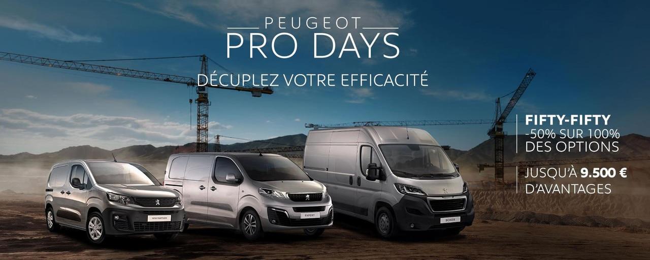 Slider Pro Days Gamme VU FR Peugeot