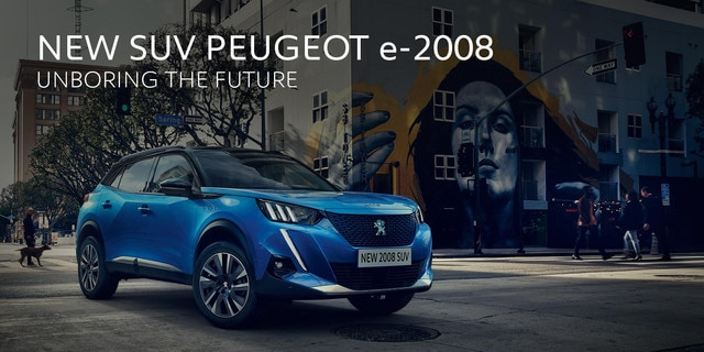 SUV e2008 Brussels Motor Show 2020 Peugeot