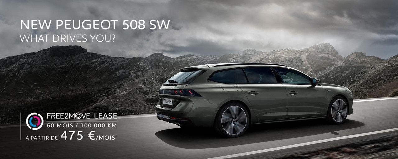 New Peugeot 508 SW Slider Home FR