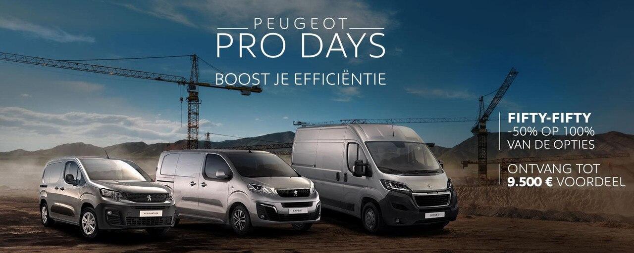 Peugeot Pro days VU Slider Homepage NL