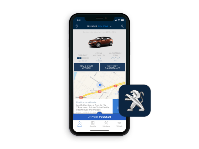 SUV PEUGEOT 3008 -  Application MyPeugeot