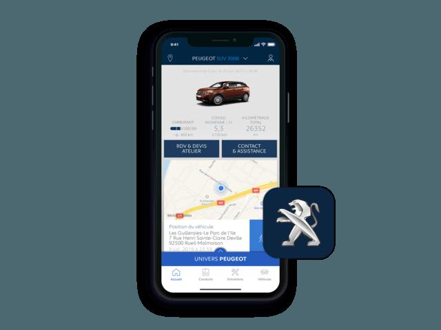 SUV PEUGEOT 3008 -  Application MyPeugeot