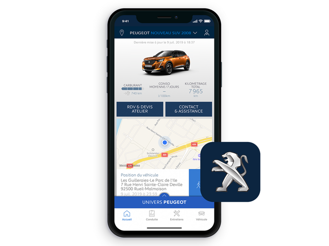 SUV PEUGEOT 2008 : Application MyPeugeot®