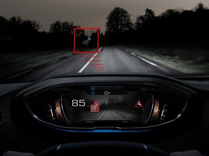Nieuwe SUV peugeot 3008 - Night vision