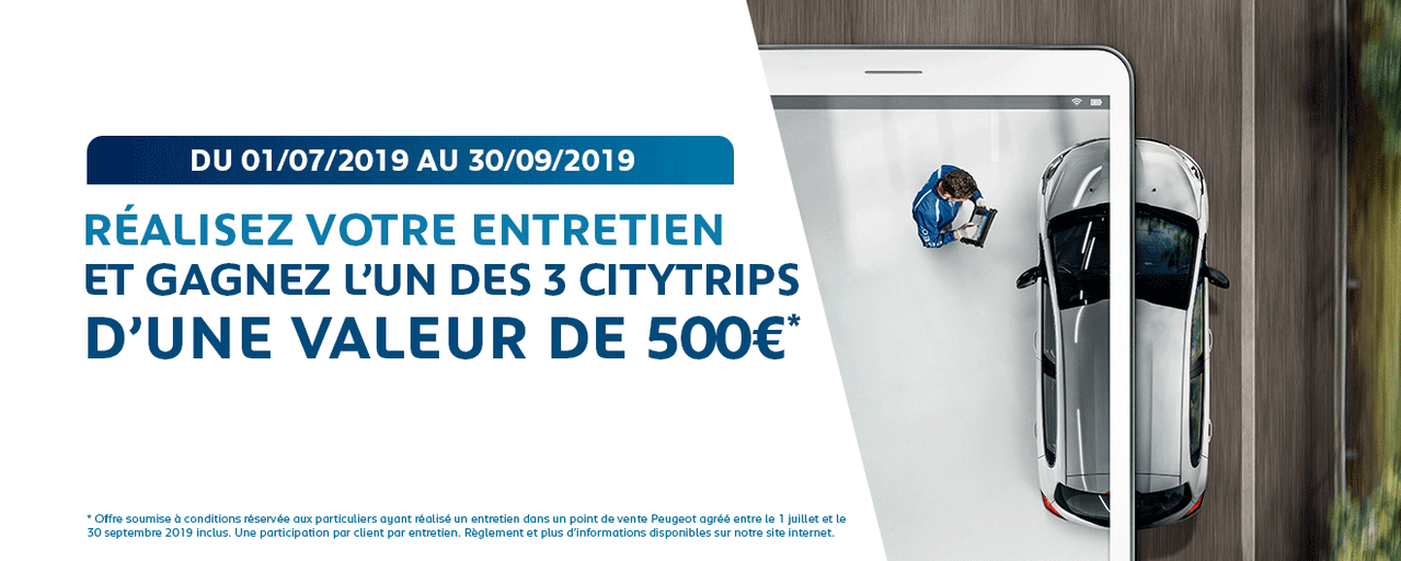 Peugeot vous offre votre prochain city trip