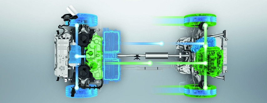 PEUGEOT 3008 GT HYBRID4: Mode 4x4 (moteur thermique & boost électrique)