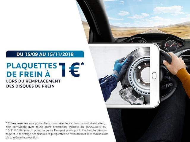 Plaquettes de frein à 1€