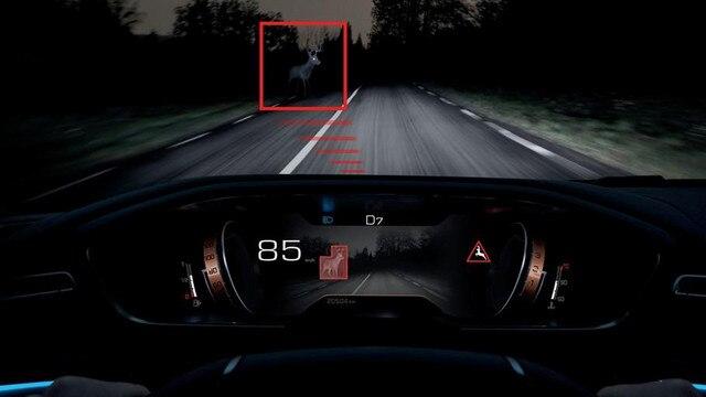 Technologie Night Vision pour améliorer la vision de nuit - nouveau break PEUGEOT 508 SW FIRST EDITION