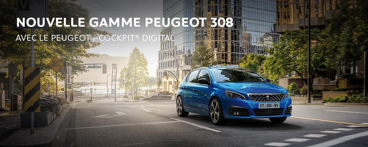 PEUGEOT 308 avec i-cockpit digital