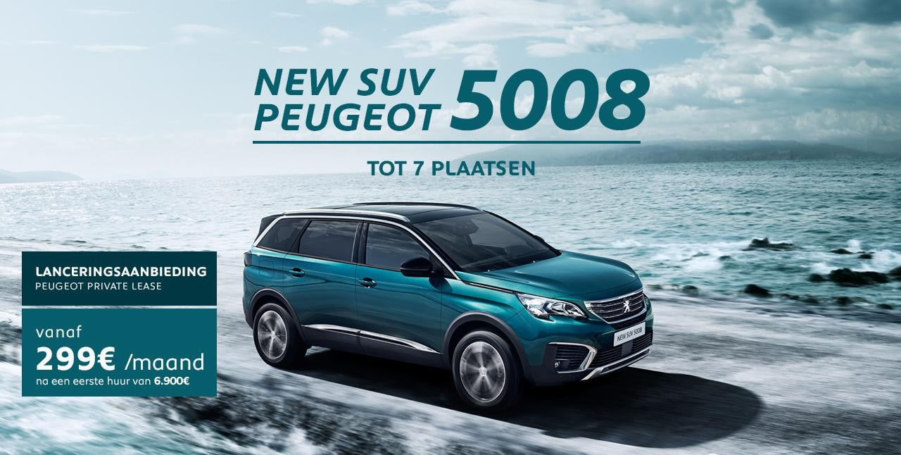 lanceringsaanbieding nieuwe SUV peugeot 5008