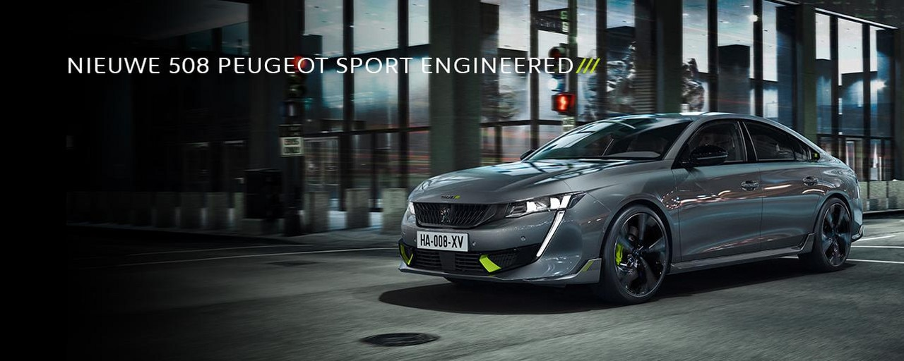 NIEUWE 508 PEUGEOT SPORT ENGINEERED